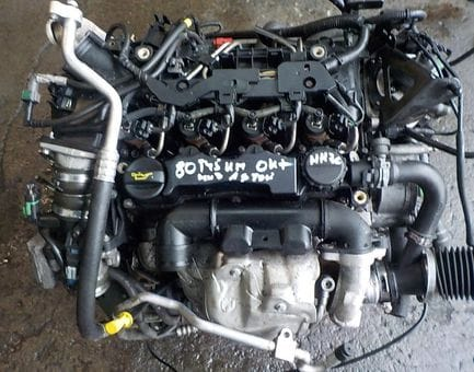 Контрактный двигатель Ford Fusion 1.6 TDCi  HHJA 90 л.с.