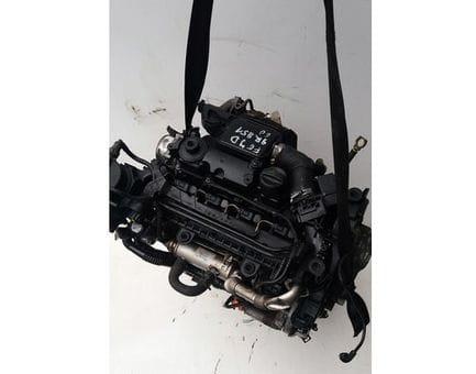 Контрактный двигатель Ford Fiesta VI 1.4 TDCi  KVJA 70 л.с.